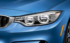 Adaptive LED Headlights on the BMW M3 Sedan in Yas Marina Blue metallic