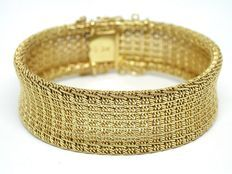 Geweven gouden armband ca 1930-1940