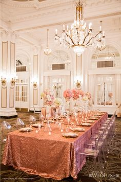 All That Glitters - Pink , Ivory & Gold | Wedluxe