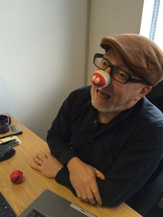 Mobile Genius chief Colin Williams in full #RND2015 #makeyourfacefunnyformoney mode! @comicrelief @rednoseday