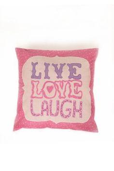 KLING eSHOP - cushion LIVE, LOVE, LAUGH