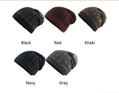 425a63f446b Men s Winter Hats Fashionable Knit Hats Autumn Thick and Warm Hats Soft  Cotton  FLB