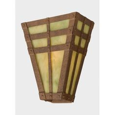 Steel Partners San Carlos Vegas 1 Light Wall Sconce Finish: Old Iron, Shade Color: Amber Mica