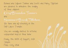 Wheat fields #Wedding #WeddingInvitations #Invitations
