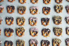chocolate covered pretzels >> savory bites