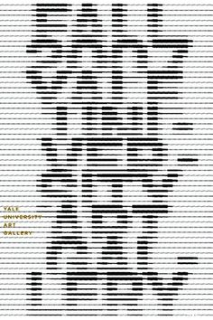 Karel Martens | 2007  Dutch Designer Karel Martens creates typographic posters using text as image. The text is often fragmented and difficult to read, challenging the construction of typography. This also challenges the viewer to see the text as image.