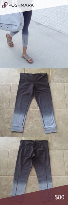 Lululemon Live Natural Crop Lululemon live natural crop in heathered medium gray/soot. Size 6, verified by the size dot in the waistband pocket. Four-way stretch cotton. Hand-dyed. Gently worn with no holes or stains.NO TRADES I only sell through Poshmark. lululemon athletica Pants Ankle & Cropped