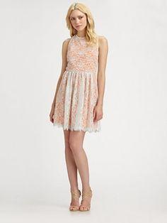 Bridesmaids Inspiration: Simple Lace Bridesmaids Dress