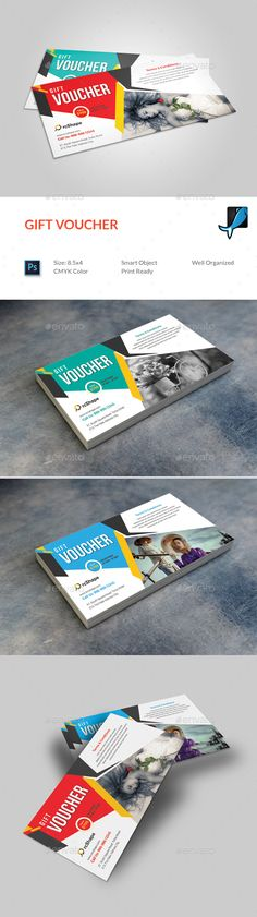 #Gift Voucher - Loyalty Cards #Cards & #Invites Download here: https://graphicriver.net/item/gift-voucher/19296206?ref=alena994