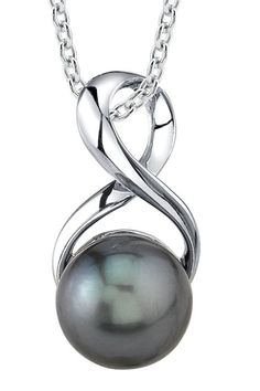 Radiance Pearl 9mm Tahitian South Sea Cultured Pearl Pendant - Beyond the Rack