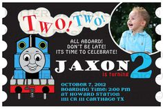 Thomas the Train Birthday Invitation - Printable on Etsy, $16.00