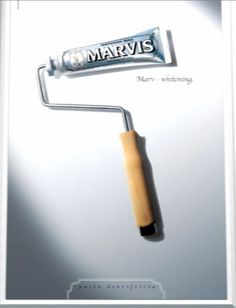 Marvis toothpaste's advertising is fun & different, my selection of the best.