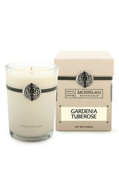 Gardenia scented soy wax candle
