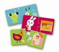 Djeco puzzle duo habitat - 7.50€ frais de livraison offerts