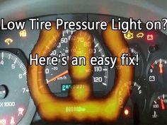 Low Tire Pressure Light on? Hereu0027s an easy Fix! Chevy TrailblazerTPMS | Chevy Trailblazer Stuff | Pinterest | Chevy trailblazer and Chevy & Low Tire Pressure Light on? Hereu0027s an easy Fix! Chevy ... azcodes.com