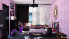 palet bedroom 01 600x337 Colorful pallet reading area in pallet home decor pallet living room pallet bedroom ideas  with