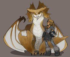 Annabeth in HTTYD!!! Love her dragon!!