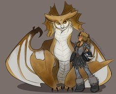 "saberghatz: Annabeth and her Stormcutter, Mímir, for my PJO How to Train Your Dragon AU  —  I was planning to stay away from ""canon species"" of dragon, but I felt that a Stormcutter was fitting for Annabeth with all of their owlish traits and such."