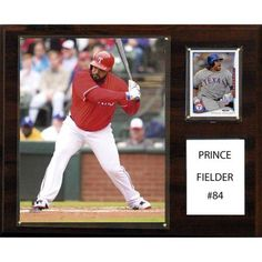 C Collectables MLB 12x15 Prince Fielder Texas Rangers Player Plaque