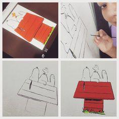 """☆ Arte do Dia - Snoopy ☆ """"Inspirada no Noivido que tanto amo"""" ♡  Alguém com tinta amarela para doar kkk tadinho do Peanuts XD"""