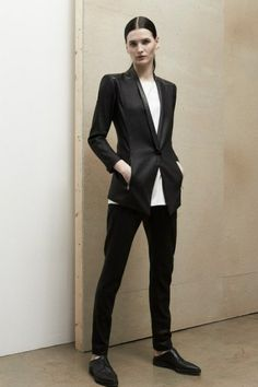 Helmut Lang Pre-Fall 2014 - would change to spicier shoes, love everything else