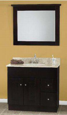 Mocha Shaker Bathroom Vanities