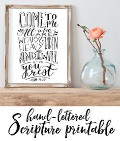A lovely 8x10 printable for new subscribers to the Bless Your Heart and Home blog! Fill a nook in your home with encouragement to trust in the One in Whom we find that eternal rest. <3