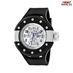 Invicta Men's S1 Modern 3-Chrono Watch - Black Invicta is the first brand we think of when we picture a top-of-the line, beautifully constructed watch with a big dose of sporty style. The Invicta man knows the powerful difference that quality and a coolly modern feel bring to a look. This Invicta watch displays that confident style and and spirit with their mix of sleekly polished metals and great features, including a calendar and water resistance. Tough and durable watches with a…
