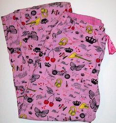 Victorias Secret PINK L Large Flannel Lounge Pajama PJ Sleep Pants Rock Royalty #VictoriasSecret #LoungePantsSleepShorts