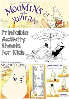 Moomins Printables Activity pages and colouring sheets for kids, including printable finger puppets and mask