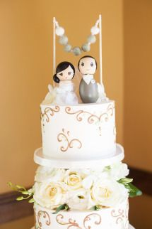 Wedding #CakeTopper | On SMP: http://www.stylemepretty.com/little-black-book-blog/2013/12/03/poway-california-wedding-from-photography-by-jay-c-winter | Jay C Winter Photography