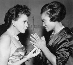 Judy Garland and Eartha Kitt, 1963