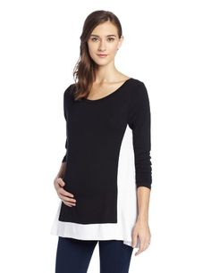 Olian Women's Maternity Hi Low Flowy Shirt, Black/White, Small Olian,http://www.amazon.com/dp/B00F6NH6QM/ref=cm_sw_r_pi_dp_mGvntb12096D3JKM