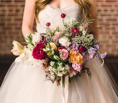 whimsical + loose valentines bouquet