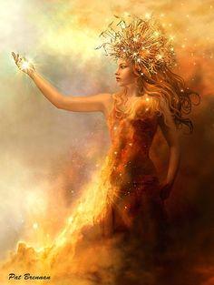 """The Starcatcher"" by Pat Brennan - Digital Art / Photomanipulation / Fantasy. Fantasy Kunst, Fantasy Art, Sacred Feminine, Gods And Goddesses, Fantasy World, Mythical Creatures, Deities, Madonna, Digital Art"