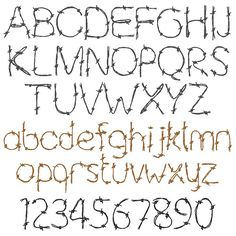 Concord Collections Embrilliance Fonts Embroidery Fonts: Barbed Wire Font 1.00 inches H