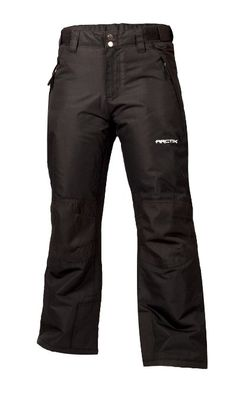 Arctix Youth Snow Pants with Reinforced Knees and Seat, X-Small, Black