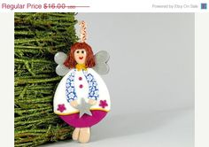 Black Friday Sale Angel Ornament Decor Christmas Tree by ArzuMusa