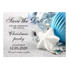 Winter, Christmas Or Holiday Party Save The Date. Magnetic Invitations