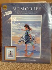 CROSS STITCH KIT BY HERITAGE STITCHCRAFT MEMORIES, BEACH COMPANIONS