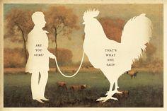 That's what she said! silhouette art by Wilhelm Staehle, silhouette artist #art #artprint #print
