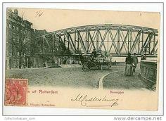 Vintage CA 1900 Postcard AK Netherlands Rotterdam Boompjes Bridge Horse Carriages - Rotterdam