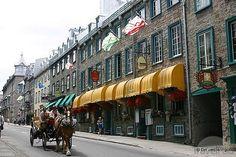 Rue Saint-Louis by Rue Vieux-Quebec Ste Anne, Chateau Frontenac, Le Petit Champlain, Quebec City, Amazing Places, St Louis, Montreal, The Good Place, Saints