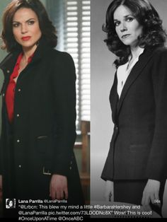 This is awesome, mother & daughter, Regina & Cora, Lana & Barbarav <-----DAYUM!!!! Has someone done a DNA check?? Are we sure they aren't related? Long lost aunt/cousin or something?
