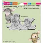 House Mouse Cling Rubber Stamp Cast Coloring