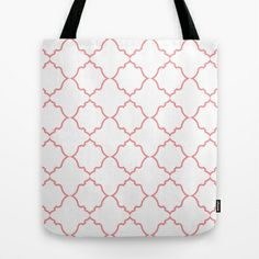 Moroccan Coral Tote Bag by House of Jennifer - $22.00