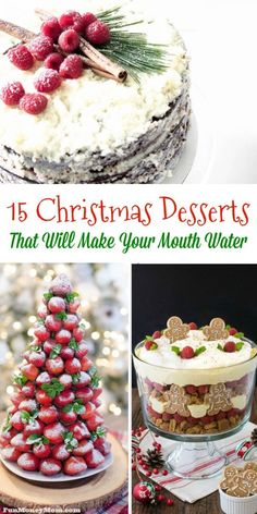 Looking for a delicious dessert recipe for your holiday dinner? You may have a hard time narrowing it down after you see these mouthwatering Christmas desserts!