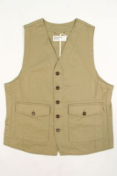 Universal Works Field Waistcoat Twill Sand : SUNSETSTAR Edwin Jeans, Universal Works, Red Wing Shoes, Japanese Denim, Workout Accessories, Vintage Inspired Dresses, Summer Collection, Dress Making, Blue Jeans