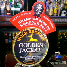 The Beer in Review: Norfolk Craft Beer Review: Golden Jackal from Wolf Brewery