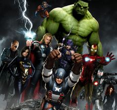 Het ultieme superhelden team komt samen: Iron Man, The Incredible Hulk, Thor, Captain America, Hawkeye en Black Widow. Avengers 2012, The Avengers, Avengers Poster, Avengers Movies, Avengers Images, Marvel Characters, Love Movie, Movie Tv, Thor